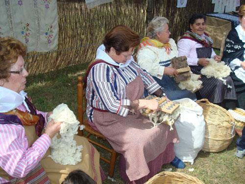 Escardar lana
