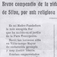 Vida de Beatriz de Silva, por una religiosa del Convento, año 1924
