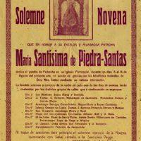 Cartel de Novena a la Virgen de Piedrasantas. Año 1949