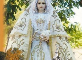 Cartel de Novena a la Virgen de Piedrasantas. Año 2011