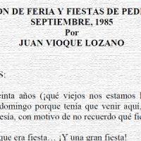 Pregón de Feria de 1985, por Juan Vioque Lozano