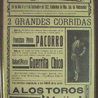 Cartel de Toros. Año 1922