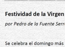 Festividad de la Virgen del Rosario, por Pedro de la Fuente Serrano