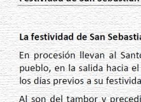 Festividad de San Sebastián, por Pedro de la Fuente Serrano