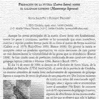 Predación de la nutria sobre el galápago leproso. Por Silvia Saldaña y Florent Prunier, año 2006