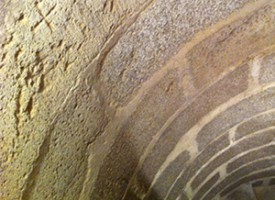 Marcas de cantero en la torre parroquial de Pedroche
