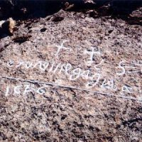 La piedra escrita en el arroyo Santa María, en Pedroche