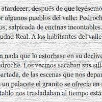 """""""El Valle de los Pedroches"""", por Carlos Marzal. ABC, año 2011"""