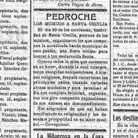Festividad de Santa Cecilia en Pedroche. Año 1920