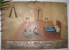 Exvotos en la ermita de Piedrasantas