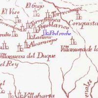 Pedroche en la mapa «Reyno de Cordova. Por Dn. Bernardo Espinalt y Garcia», año 1787