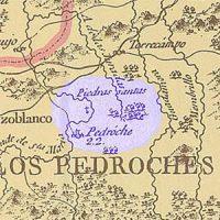 """Pedroche en el """"Mapa geográfico del reyno y o bispado de Córdoba"""", año 1797"""