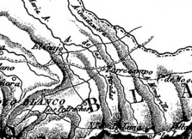 Pedroche en el mapa «Provincia de Cordoba [Material cartográfico]», año 1847