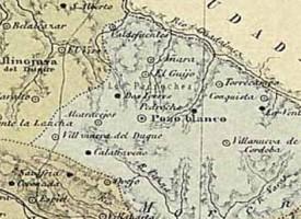 Pedroche en el mapa «Córdoba, 1850 – 1900»