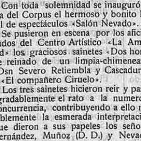 El Salón Nevado, en Pedroche. Años 1920 - 1921