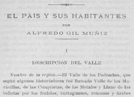 El Valle de los Pedroches: el país y sus habitantes, por Alfredo Gil Muñiz. Año 1926