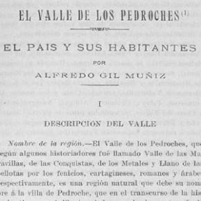 El Valle de los Pedroches: el país y sus habitantes, por Alfredo Gil Muñoz. Año 1926