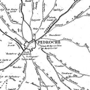 Croquis de las vías pecuarias de Pedroche, año 1957