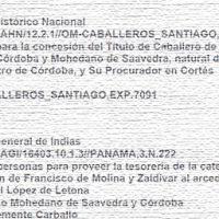 Francisco Mohedano Saavedra, referencias en los archivos españoles