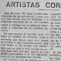 José Herruzo Álamo, entrevista en La Voz. Año 1934