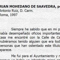 """""""Juan Mohedano de Saavedra, pedrocheño ¿cardenal?"""", por Antonio Ruiz, D. Carm. Año 1997"""