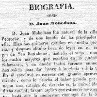 Biografía de Juan Mohedano. Periódico El Liceo de Córdoba, 31 de julio de 1845