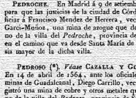 Registro y relación general de minas de la Corona de Castilla. Año 1832