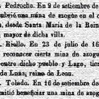 El Minero Español. Año 1841