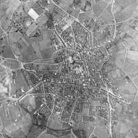 Foto aérea de Pedroche. Año 1976