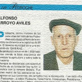 """Alfonso Arroyo Avilés en """"Nuestros mayores dicen, hablan, esta..."""". Año 1993"""