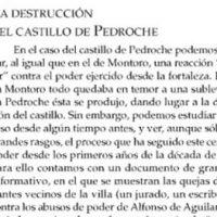 La destrucción del castillo de Pedroche, por Juan Bautista Carpio Dueñas. Año 2001