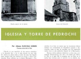«Iglesia y Torre de Pedroche», por Alfonso Ranchal Cobos. Año 1968
