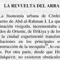 La revuelta del Arrabal de Córdoba, 818, y la toma de Creta en el 827. Por Diego Melo Carrasco, año 2000