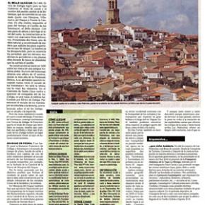 """""""Manjares ibéricos bajo la dehesa milenaria"""". El Mundo, 2010"""