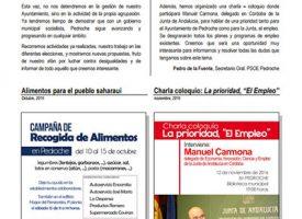 Boletín informativo PSOE-A Pedroche, año 2016