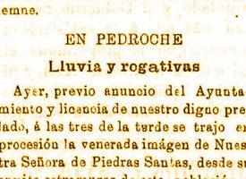 Rogativas a la Virgen de Piedrasantas ante fuertes sequías